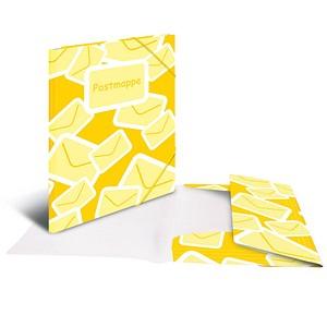 3 HERMA Sammelmappe Postmappe DIN A4 gelb