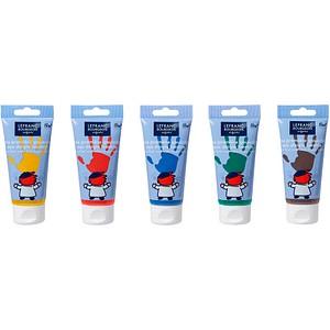 5 LEFRANC BOURGEOIS Fingerfarben farbsortiert 5x 80 ml 807395