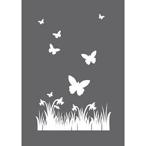 Rayher Siebdruckschablone Frühling grau 45123000