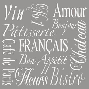 Rayher Dekor-Schablone French Living grau 38906000