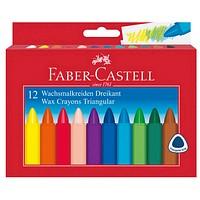 12 FABER-CASTELL Wachsmalstifte Triangular