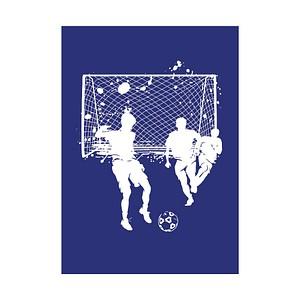 Rayher Siebdruckschablone Fussball blau 4505000