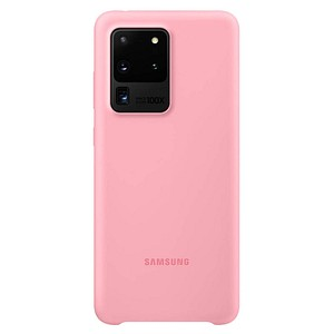 SAMSUNG Silicone Cover Handy-Cover f uuml r SAMSUNG Galaxy S20 Ultra pink