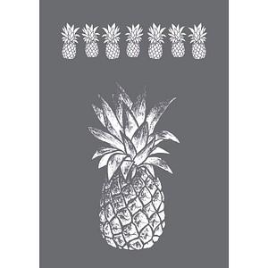 Rayher Siebdruckschablone Ananas grau 45089000