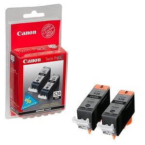 2 Canon PGI-520 BK Twin-Pack schwarz Tintenpatronen