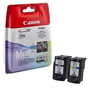 2 Canon PG-510 CL-511 schwarz, color Druckk ouml pfe