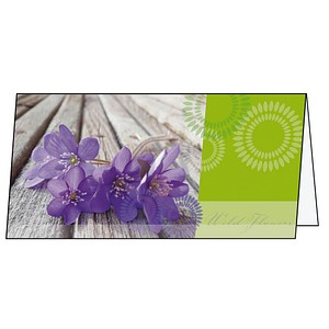 25 SIGEL Glückwunschkarten Violetta DS177