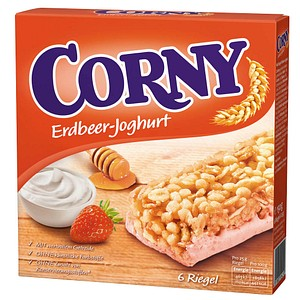 CORNY Erdbeer-Joghurt Müsliriegel 6 Riegel