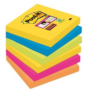 6 Post-it® Super Sticky Rio de Janeiro Haftnotizen 6546SR farbsortiert