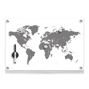 Zeller Glas-Magnettafel 60,0 x 40,0 cm Weltkarte