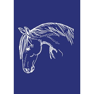 Rayher Siebdruckschablone Pferdekopf blau 4503100