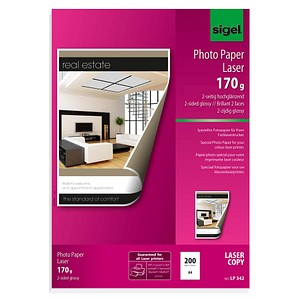 SIGEL Fotopapier LP342 DIN A4 glänzend 170 g/qm 200 Blatt