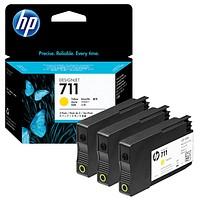 HP 711 gelb Tintenpatronen 3x 29,0 ml