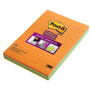 Post-it® Super Sticky Haftnotizen extrastark 46453SSA farbsortiert 3 Blöcke