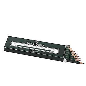 12 FABER-CASTELL 9000 Bleistifte B