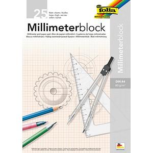 folia Millimeterblock DIN A4 Millimeter
