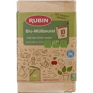 10 RUBIN Bio-Müllbeutel 10,0 l