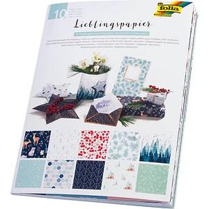 folia Geschenkpapier Lieblingspapiere Winter mehrfarbig 37002