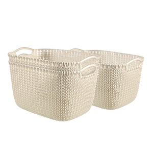 curver KNIT L Aufbewahrungsboxen weiß 39,6 x 28,8 x 23,6 cm