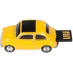 GENIE USB-Stick Fiat 500 gelb, schwarz 32 GB