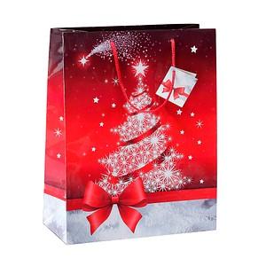 5 SIGEL Geschenktaschen Sparkling Tree rot