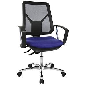 Topstar Ergo Steel Net Bürostuhl blau