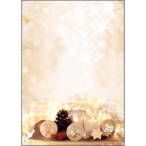 SIGEL Weihnachtsbriefpapier Zimtsterne Motiv DIN A4 90 g/qm 25 Blatt DP926