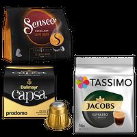 Kaffeepads, Kaffeekapseln & -discs