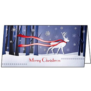 10 SIGEL Weihnachtskarten Winter's Eve DIN lang DS017