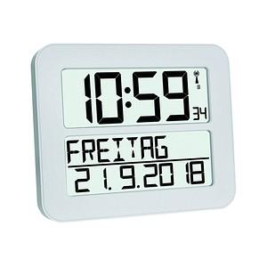 TFA® digitale Funkwanduhr 60.4512.02 weiß