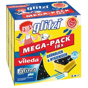 18 vileda Topfreiniger Glitzi plus MEGA-PACK 18x