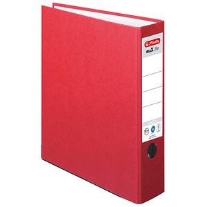 herlitz maX.file nature plus Ordner rot Karton 8,0 cm DIN A4