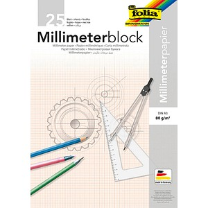 folia Millimeterblock DIN A3 Millimeter
