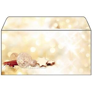 25 SIGEL Weihnachtsbriefumschläge Zimtsterne DIN lang ohne Fenster DU211
