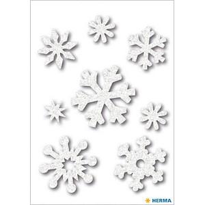 8 HERMA Aufkleber 6523 Eiskristalle
