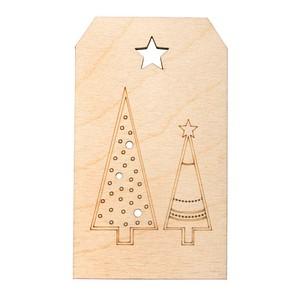 Rayher Geschenkanhänger Holz Weihnachtsbäume 1 St.