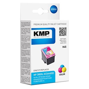 KMP H45 color Tintenpatrone ersetzt HP 300XL (CC644EE)