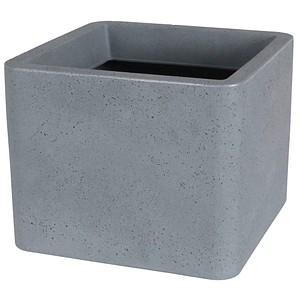 neutral Lea Pflanzkübel Kunststoff 39,0 x 39,0 x 31,0 cm grau