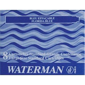 8 WATERMAN Tintenpatronen für Füller blau S0713021