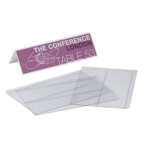 10 DURABLE Tischaufsteller für 21,0 x 6,1 cm