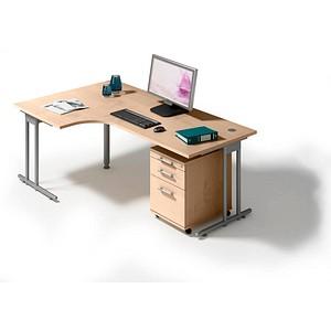 HAMMERBACHER Prokura Büromöbel-Set ahorn L-Form