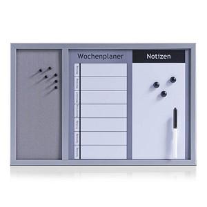 Zeller Whiteboard-Pinnwand 60,0 x 40,0 cm Kork grau