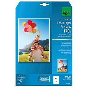 SIGEL Fotopapier IP713 DIN A4 hochglänzend 170 g/qm 20 Blatt