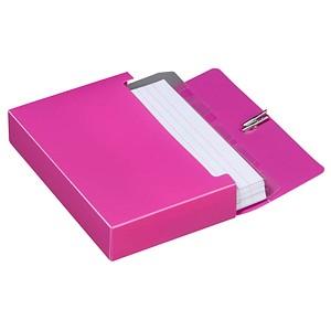 M&M Karteibox DIN A7 für 100 Karteikarten sunset-red mit Deckel