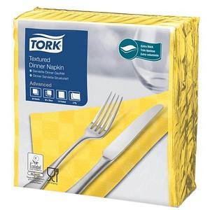 50 TORK Servietten Textured gelb