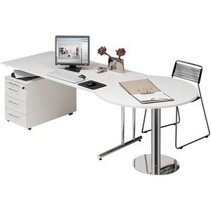 Kerkmann Büromöbel-Set weiß rechteckig