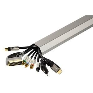 hama Kabelkanal silber 20644