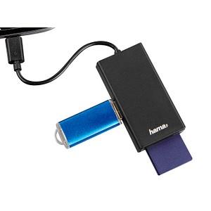 hama USB-2.0-OTG-Hub/Kartenleser Kartenleser schwarz 54141