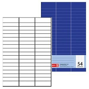 BRUNNEN Vokabelheft Lineatur 54 liniert 3-spaltig ohne Rand