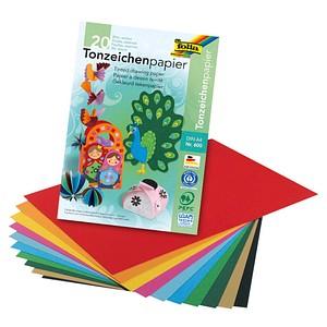 folia Tonpapier farbsortiert A4 130 g/qm